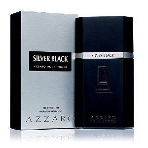 "PERFUMES IMPORTADOS ""AZARRO SILVER B LACK"" POUR HOME,  100 ML, TOILETTE-ORIGINAIS-"