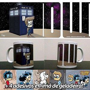 Caneca 10º Doctor Who - Versão Levados