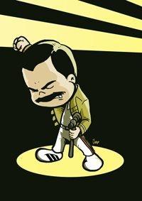 Pôster Freddie Mercury - Versão Levados