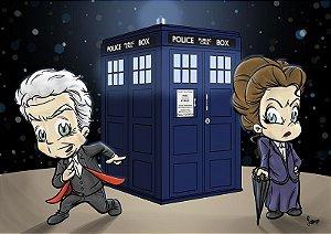 Pôster 12º Doctor Who e Missy - Versão Levados