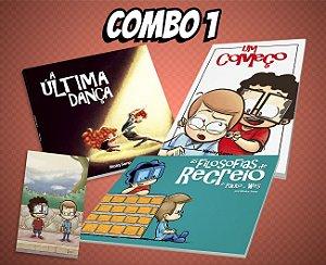 COMBO 1 - A Última Dança + Um Começo + As Filosofias de Recreio de Paulo e Wes + Ímã
