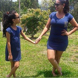 Vestido Piquet Mãe e Filha