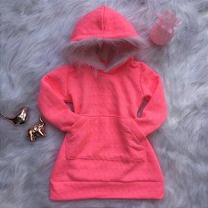 Vestido Neon Rosa Flúor Mãe e Filha