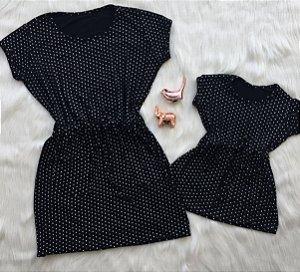 Vestido de Poá Mãe e Filha