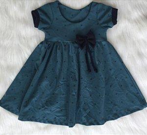 Vestido Verde Piquet infantil