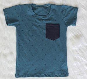 T shirt Verde Piquet infantil Masculina
