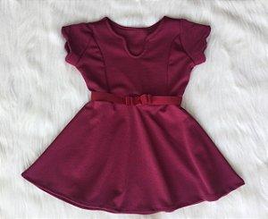 Vestido Crepe Vermelho infantil