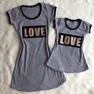 Vestido Love Mãe e Filha