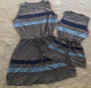 Vestido Listras Azuis Tal Mãe Tal Filha
