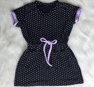 Vestido de Poá com detalhes lavanda 2
