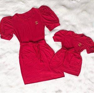 Vestido Vermelho Tal mãe Tal Filha
