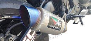 Escape Austin Racing Honda Cbr 1000 Rr 2008/2013 Inox Azul