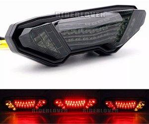 Lanterna Led Alto Brilho Com Piscas Integrados Yamaha Mt 09