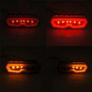 Lanterna Led Alto Brilho Com Piscas Integrados Honda CB  CBR 650 F