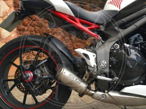 Escape Ponteira SC Low Project Triumph Speed Triple 1050