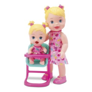 Boneca My Little Collection Hora Da Papinha Loira Divertoys