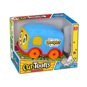 BRINQ INF CAR TOONS MINI BUS PLAST COLOR