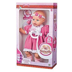 Boneca Grande Meu Nenezao Linda Fala 62 Frases 54cm