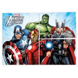 Painel 4 Lâminas Avengers 1 Unidade