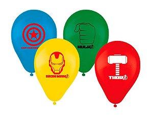 """Balão de Festa Avengers Vingadores 9"""" 25 Unidades"""