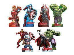 Decoração de Mesa Avengers (Vingadores) 6 Unidades