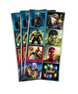 Adesivo Decorativo Quadrado Avengers (Os Vingadores) 24 Unidades