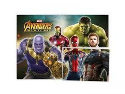 Painel 4 Lâminas Avengers 3 (Vingadores) 1 Unidade