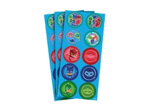 Adesivo Decorativo Redondo PJ Masks - 30 Unidades