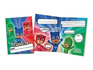 Convite PJ Masks 8 Unidades