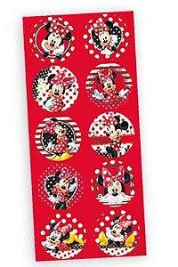 Adesivo Decorativo Redondo Minie Vermelha 30 - Unidades