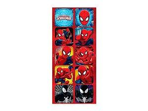 Adesivo Decorativo Quadrado Spider Man - 30 Unidades