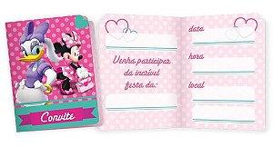 Convite Minnie Rosa 8 Unidades