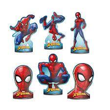 Decoração de Mesa Spider Man 8 Unidades