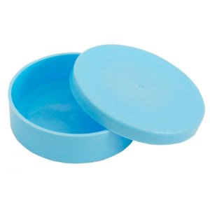 Latinha Plástica Azul Bebê 10 Unidades