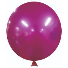 """Balão Alumínio Fucsia 9"""" 25 Unidades"""