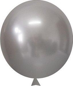 """Balão Alumínio Natural 9"""" 25 Unidades"""