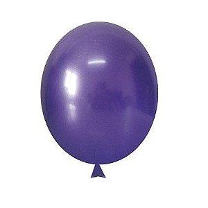 """Balão Alumínio Violeta 9"""" 25 Unidades"""