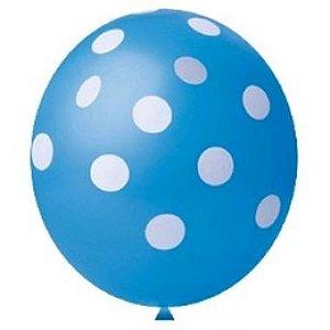Balão de Festa Tema Confete Azul 11'' 25 Unidades