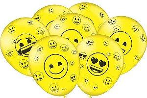Balão Tema Emoticons 25 Unidades