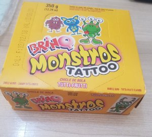 Chicle Bola Brinq Monstro Tattoo 350g