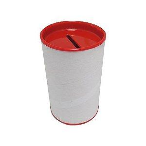 Cofre Papelão Branco Vermelho 6 Unidades
