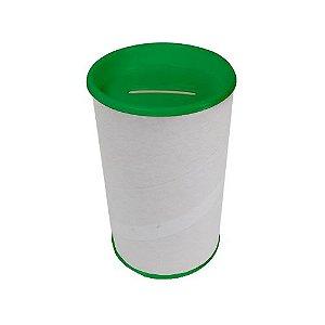 Cofre Papelão Branco Verde 6 Unidades