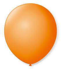 Balão SR Nº7 Laranja Mandarim 50 Unidades