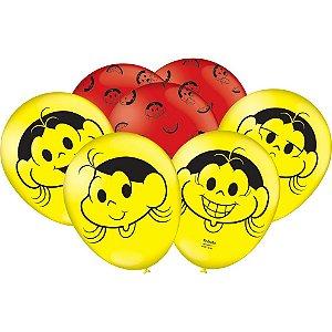 "Balão de Festa Magali Melancia 9"" 25 Unidades"