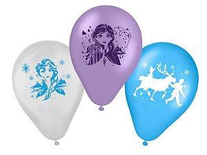 "Balão de Festa Frozen 2 Regina 9"" - 25 Unidades"