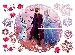 Painel 4 Folhas Frozen 2 Regina