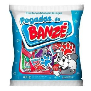 Pirulito Banzé Pegadas Sortido 200g - Boavistense
