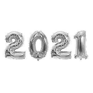 KIT BALAO 2021 PRATA 40CM