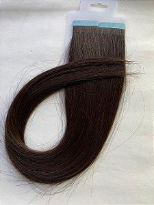 Mega hair fita adesiva #1B - 20 fitas - 40cm cabelo humano