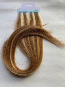 Mega hair fita adesiva #8/24 - 20 fitas - 50cm  cabelo humano